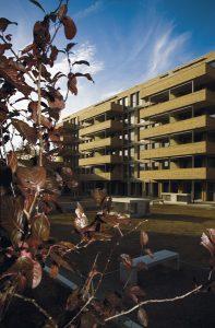 Null-Energie-Wohnüberbauung, Eulachhof Winterthur. 15'000 m2 Fenster- und Fassaden-Lösung in MINERGIE-P-ECO Standard © ERNE AG Holzbau, Laufenburg