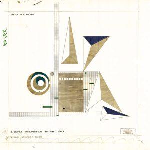 «Garten des Poeten» von Ernst Cramer / Plan © Schweizerische Stiftung für Landschaftsarchitektur SLA, Rapperswil