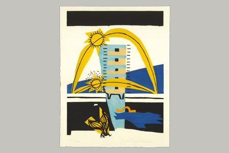 Lithographie Sonnenbrecher aus Le Corbusiers Poème de l'angle droit, 1955© FLC / 2013, ProLitteris, Zurich