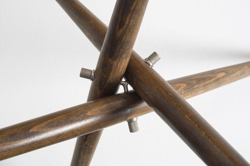 Stuhl Bleistiftzeichnung ~ Kolonialtisch, Detail, 1944  Foto Michael Lio, © Designunddesign