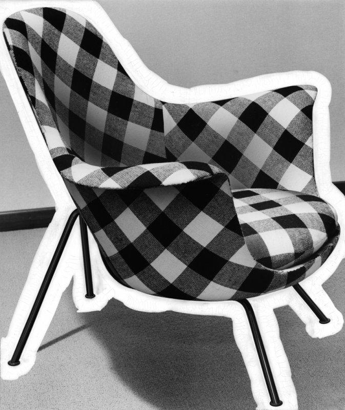 Stuhl Bleistiftzeichnung ~ SitwellSessel Modell 101 Hans Bellmann, 1955  Archiv Maria und Alex