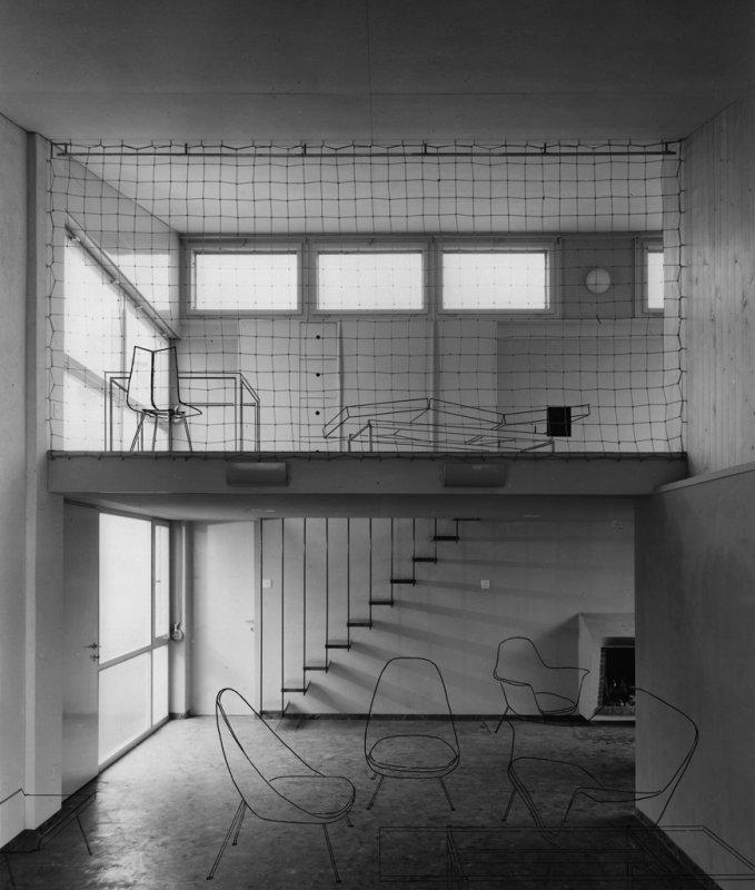 Stuhl Bleistiftzeichnung ~ Hans Bellmann — Protagonist der Schweizer Wohnkultur Ausstellung