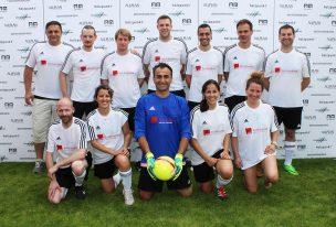 Die Mannschaften des 13. Architekten-Fussballturniers