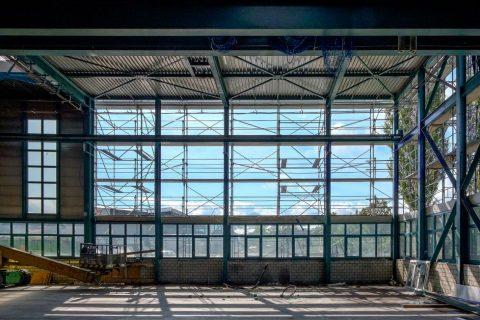 Aufenthalts- und Garderobengebäude Gwatt (Quelle: Furrer Jud Architekten)