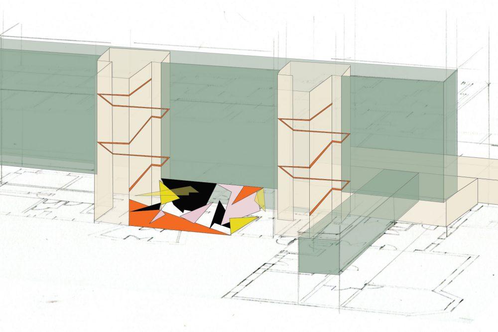 Bild: Visualisierung Raumgefüge, burkhard & fata farbgestaltung